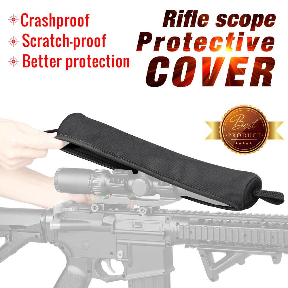 PPT Hunting Riflescope Optics Cover Military Pouch Neoprene Rifle Scope Cover Black Color 33x6.5x4.5cm Gun Bag Pouch PP6-0096