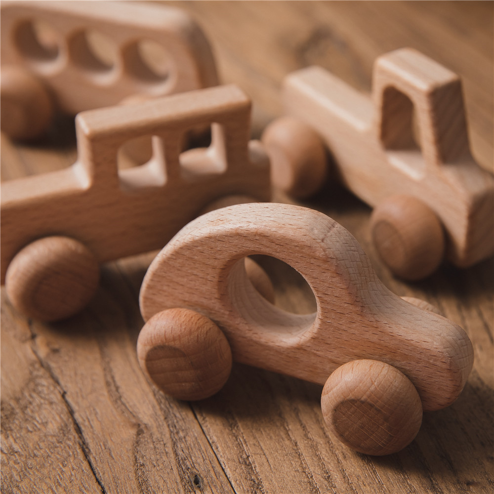 1 шт. деревянные игрушки буковая древесина автомобильные блоки мультфильм Обучающие игрушки Монтессори игрушки для детей, детей, у которых ...