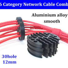 Cable Comb Aluminium-Alloy for Computer-Room 30hole-Machine 6-Network Tidy-Tools Wire-Harness