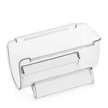 Przezroczysty z tworzywa sztucznego pojemniki do przechowywania przechowywanie żywności pojemniki do przechowywania do spiżarni kuchnia lodówka spiżarni pojemniki do przechowywania z uchwytami 4-Pack tanie i dobre opinie CN (pochodzenie) Nowoczesne