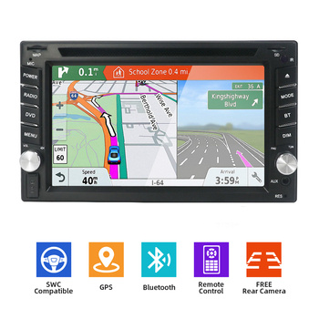 Bosion Car DVD Player Car Multimedia Double 2 din Universal Car Radio GPS Navigation In dash Car Stereo video Free Rear Camera image
