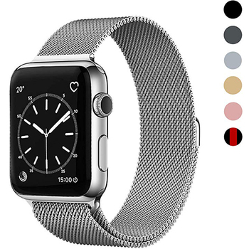 цена на Milanese Loop band strap case For Apple Watch Series 5/4/3/2 38mm 42mm 40mm 44mm Stainless Steel Strap Wrist Bracelet for iwatch