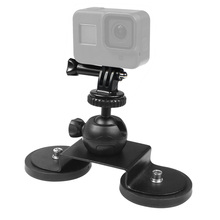 Low Angle Suction Cup Magnetic Mount Tripod Adapter 360 Ballhead Sucker Car Phone Holder for GoPro 9 8 5 insta360 Action Camera