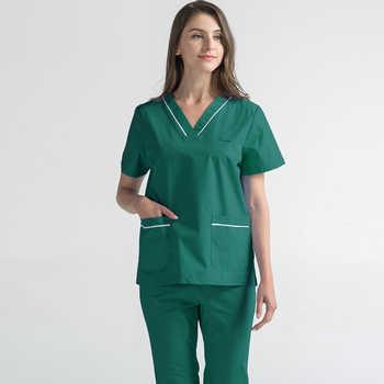 Plug Size S-4XL Medical Scrubs Hospital Nurse Scrub Set Medical Surgical Uniform Pure Cotton Beauty Salon Dentist Clinic Unifrom - DISCOUNT ITEM  35 OFF Novelty & Special Use