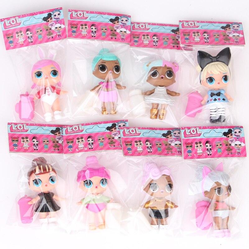 LOL surprise-muñecas originales lol, 8 Uds., nuevos estilos con bolsa de etiqueta, modelo de figura de acción de alta calidad, juegos de muñecas sorpresa de 8 ~ 9CM
