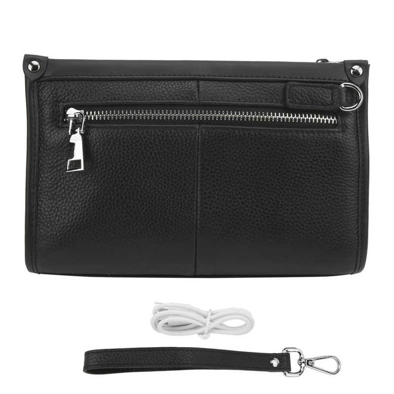 Умная сумка с отпечатком пальца, деловой кошелек на молнии с защитой от кражи, Сумка с портом для зарядки для мужчин