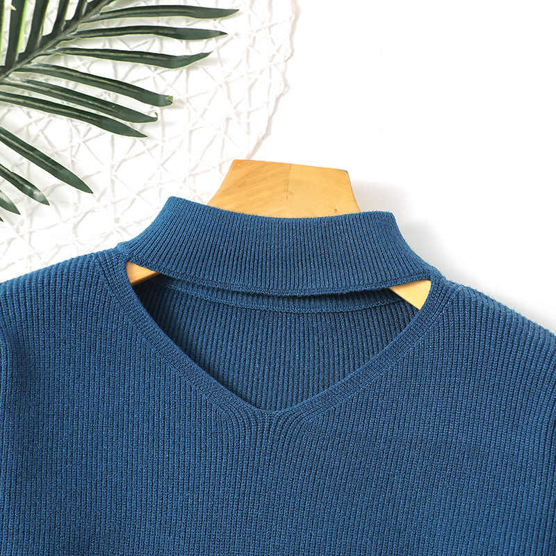 겨울 느슨한 두꺼운 스웨터 여성 풀오버 가을 2019 한국어 브이 넥 니트 풀오버 패션 느슨한 편직 레이디 스웨터 여성
