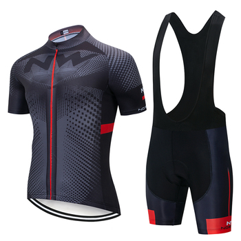 2020 NW Men and Women Cycling Jersey Clothing Set Spring and Summer Men and Women Short Sleeve Breathable tanie i dobre opinie 100 poliester Krótki rękaw Factory direct sales 80 poliester i 20 lycra Żel oddychające pad Pełna Jersey zestawy