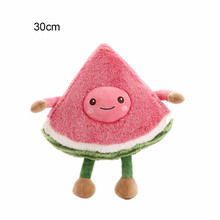 Personalized Creative Plush Toys Kawaii Fuzzy Watermelon Apple Fruits Soft Cute Stuffed Dolls Pillow for Kids Gifts 3