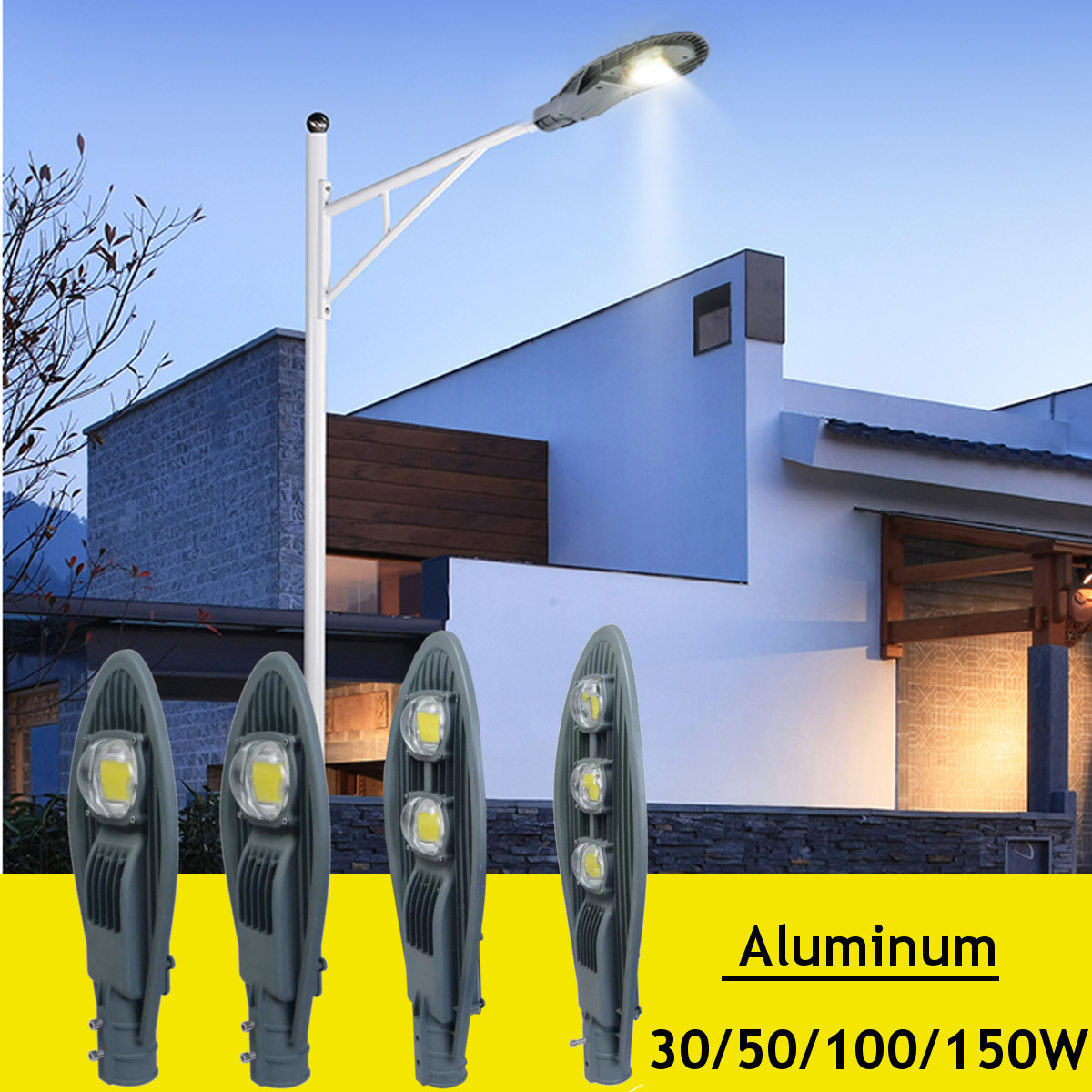 30/50/100W Waterproof LED Street Light Area Parking Lot Yard Barn Outdoor Wall Lamp Industrial Garden Square Highway Road Lamp