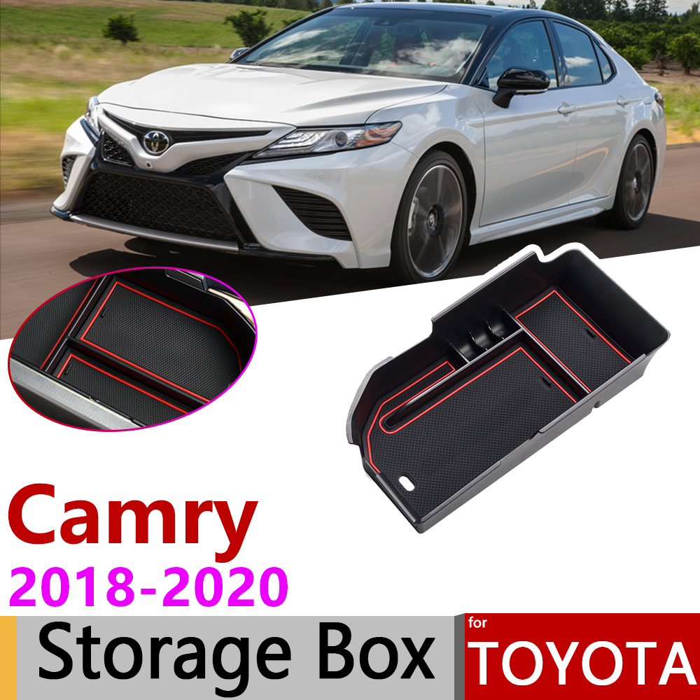 for Toyota Camry 70 XV70 2018 2019 2020 Central Armrest Box Storage Interior Stowing Tidying Car Organizer Car Accessories