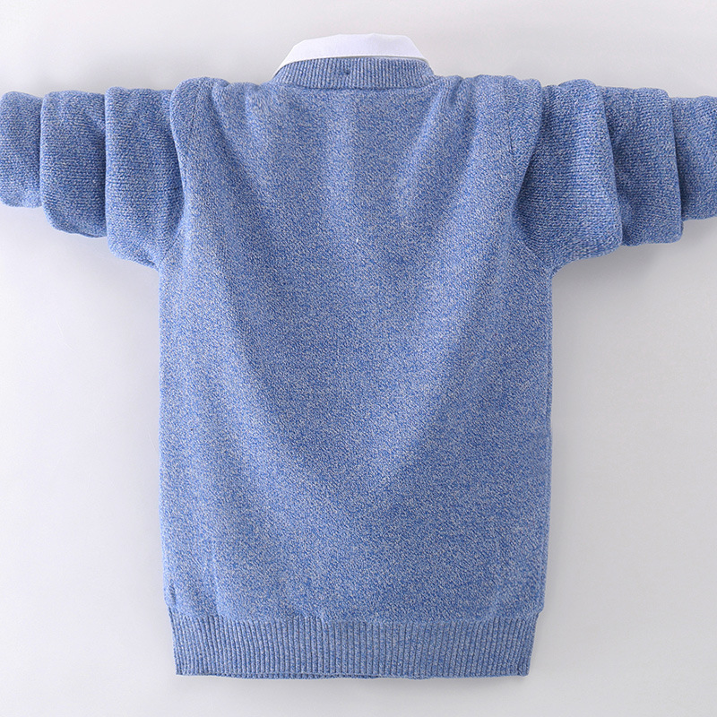 winter children's clothing Boy's clothes pullover Sweater Kids clothes Cotton products Keep warm Boy sweater Thicker 4