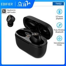 EDIFIER TWS2 TWS 무선 이어폰 Bluetooth 5.0 HD 스테레오 이어 버드 독립 소음 감소 이어폰 스포츠 이어폰 사용