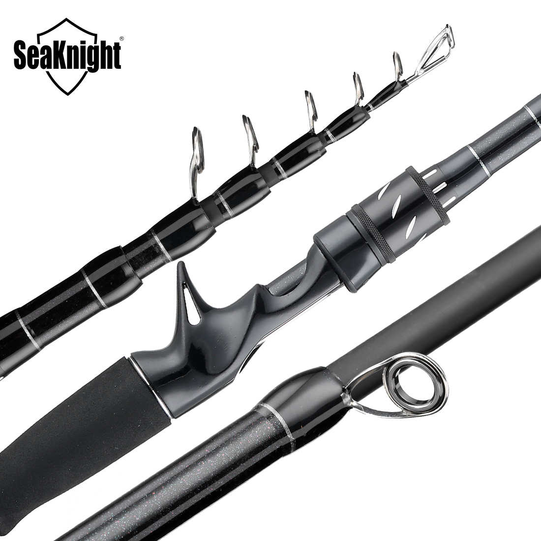 SeaKnight 2019 Sange II M MH 2.1M 2.4M Carbon Rod ตกปลา Telescopic Rod Casting Rod เดินทาง Rod 7-25g 8-18LB ตกปลา