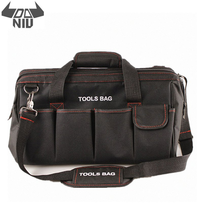 DANIU 12 14 16 18 Inch Electrician Tool Bag Waterproof Large Capacity Bag Travel For Hardware Men Crossbody Repair Packaging
