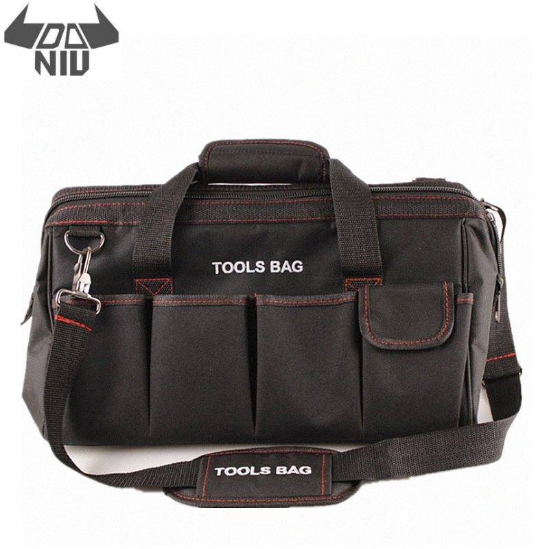 DANIU 12 14 16 18 Inch Electrician Tool Bag Waterproof Large Capacity Bag Travel For Hardware Men Crossbody Repair Packaging