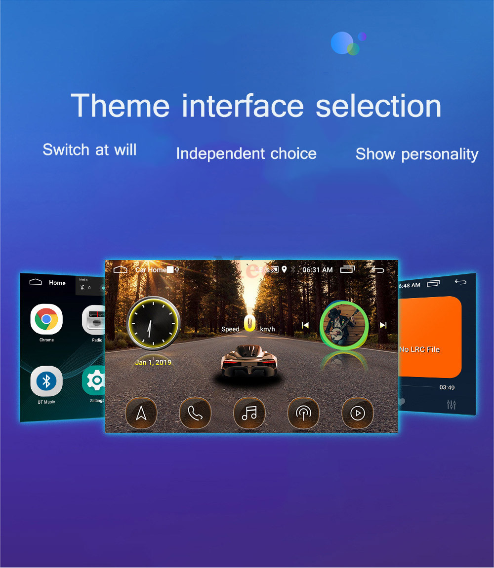 2din Car radio 9 10.1inch Android system Auto stereo 2.5D Capacitive Screen Bluetooth WIFI GPS Quad Core For Universal Car  (22)