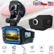 AKASO Full HD 720P Car DVR Camera  2in1 Radar Detector Video Recorder Dash Cam Laser Speed with G-sensor DVRs