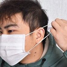 10 قطعة جديد الأبيض 3 طبقات غير المنسوجة الفم قناع الوجه منع مكافحة الغبار الوجه الفم أقنعة واقية مكافحة الجسيمات