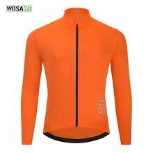 WOSAWE-maillot de manga larga para ciclismo, camisetas reflectantes para ciclismo de montaña o carretera, para otoño