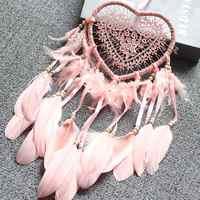 Heart Shape Creative Handmade Vintage Dreamcatcher Dromenvanger Wedding Decoration Wind Chimes Party Feather Hot Sale