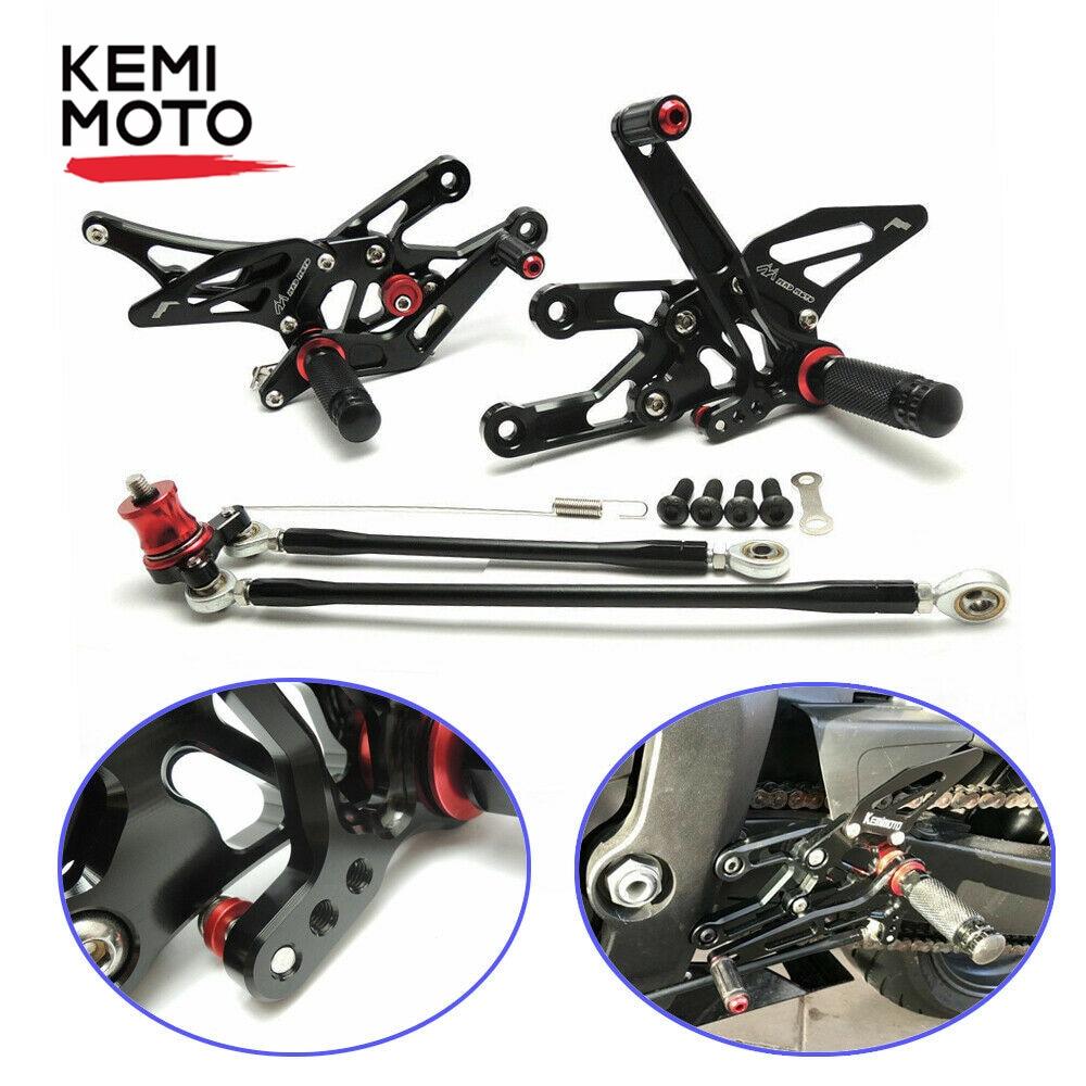 For Honda CBR1000RR 2004-2007 CNC Rear Sets Foot Pegs Footpeg Pedal Adjustable