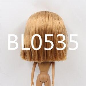 Image 5 - Blyth הבובה קפוא פאה רק rbl קרקפת הכיפה ישר שיער שמנוני שיער שמנוני שיער צעצוע קרקפת