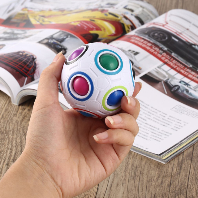 Creative Magic Spheric Cube Speed Rainbow Ball Puzzles Learning Educational Toys For Children Adults Office Anti Stress Puzzles 4