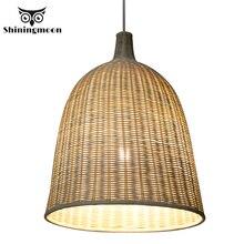 цена на Southeast Asia Hand Made Bamboo Pendant Lights Chinese Classical art Decor Wooden Pendant Lamp Restaurant Bar Hanglamp Luminaria