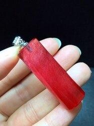 Certificat naturel rouge rutilé cheveux Quartz pendentif femme homme 40*14mm baril amour pierre gemme collier AAAAA
