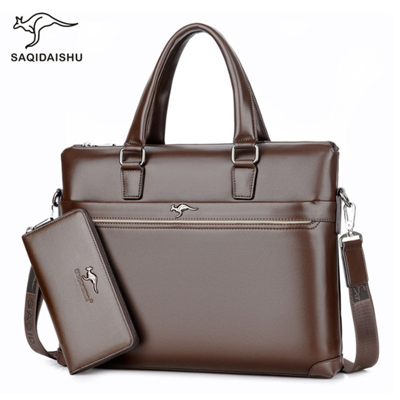Office Bags For Men's Briefcase Business Laptop Bag 2019 Leather Bags Computer Laptop Handbag Office Bags For Men Maletines