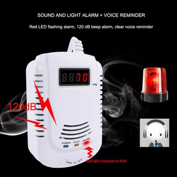 LPG GAS Detector Alarm Wireless Digital LED Display Natural Leak Combustible Gas Detector For Home Alarm System