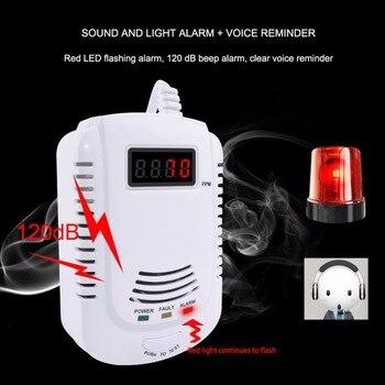 Natural Gas Detector Home Gas Leak Alarm Sensor Combustible Gas Leak Tester LPG Coal Warning For Household Kitchen Security