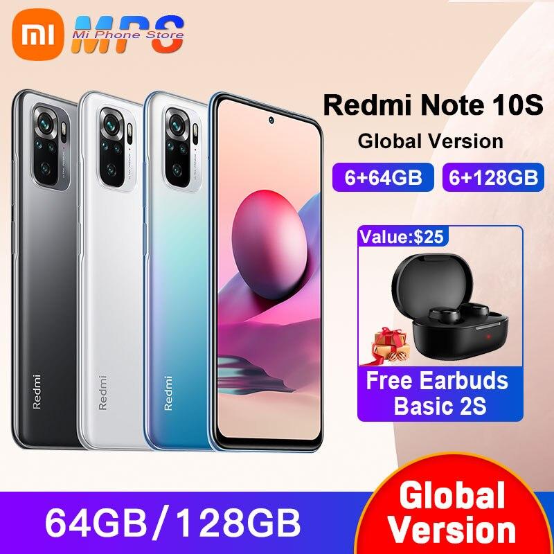 Xiaomi Redmi Note 10S Global Version 6GB 64GB/128GB Helio G95 6.43