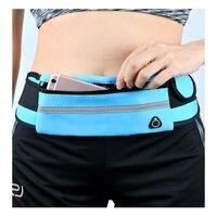 Sac de taille Fanny Pack ceinture argent pour courir Jogging cyclisme téléphones Sport course étanche ceinture taille sacs