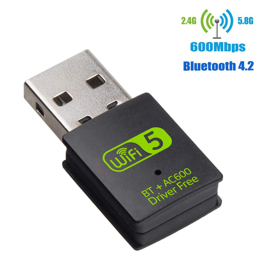 <font><b>USB</b></font> WiFi Bluetooth <font><b>Adapter</b></font> Dual Band Wireless External Receiver Dongle for PC Laptop NC99 image