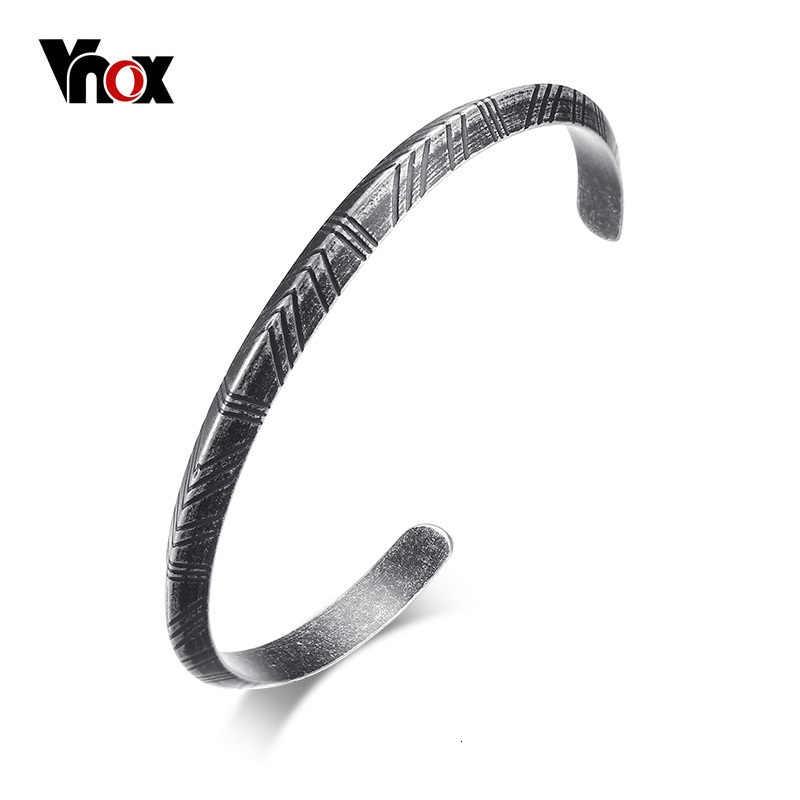Vnox, мужской Браслет-манжета Viking, браслет, ретро стиль, серебряный тон, нержавеющая сталь, Pulseira, женский, мужской, для улицы, церемония, унисекс, ювелирное изделие