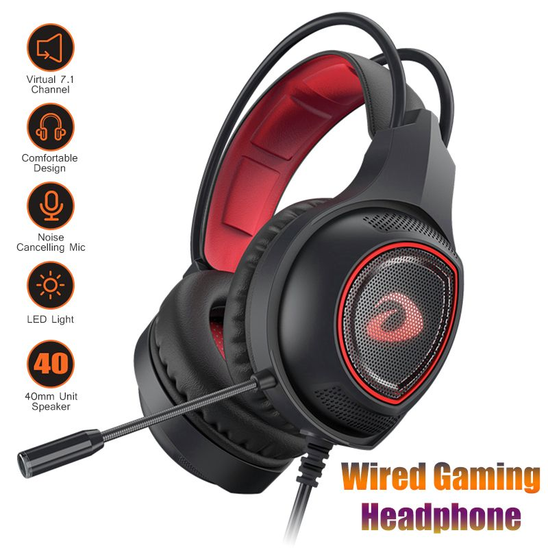 Wired Gaming Headphone Deep Bass Stereo Sound Earbuds Headset With Microphone For Phone PC Laptop Pubg Video Games Accessories