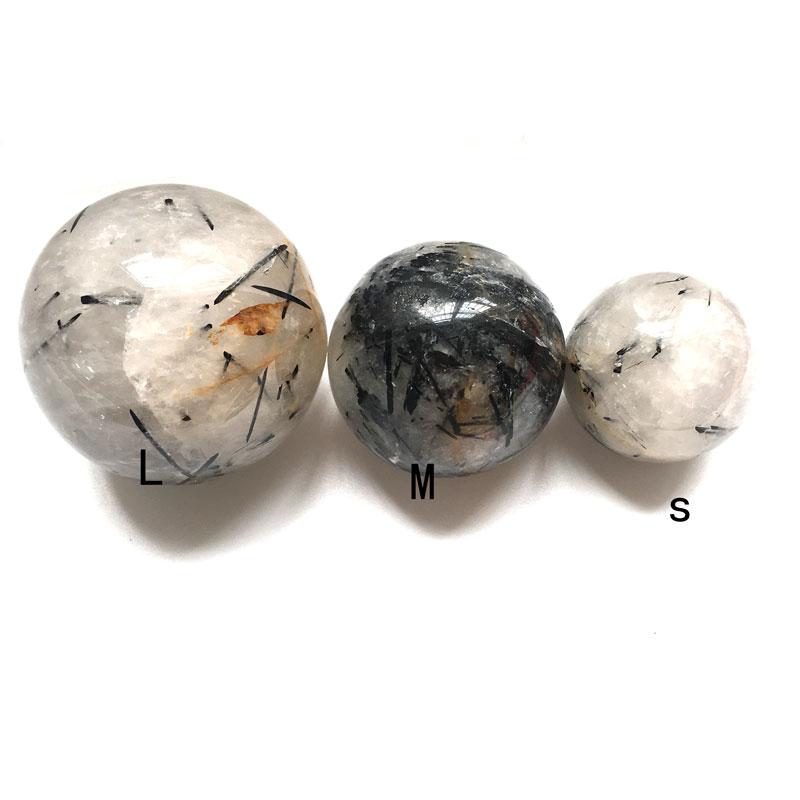 50-70 см натуральный черный турмалин кварцевая сфера шар Хрустальная Сфера лечебный драгоценный камень массажер украшение дома FengShui JYX
