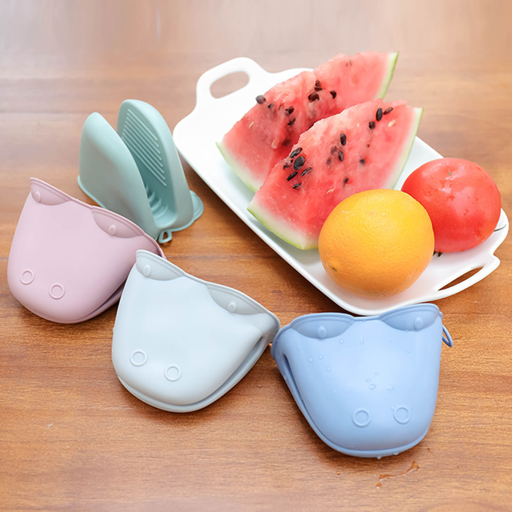 Silicone Oven Gloves Clip Cooking Heat Resistant Mitts Baking Gloves Insulation Non Stick Anti-slip Holder Baking Accessories