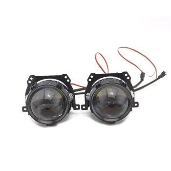 New Freeshipping Bedehon Mini Bi-LED Projector Lens Light 12V 6000K Retrofit Biled Bi LED Projector 2 pcs optima premium biled lens professional series