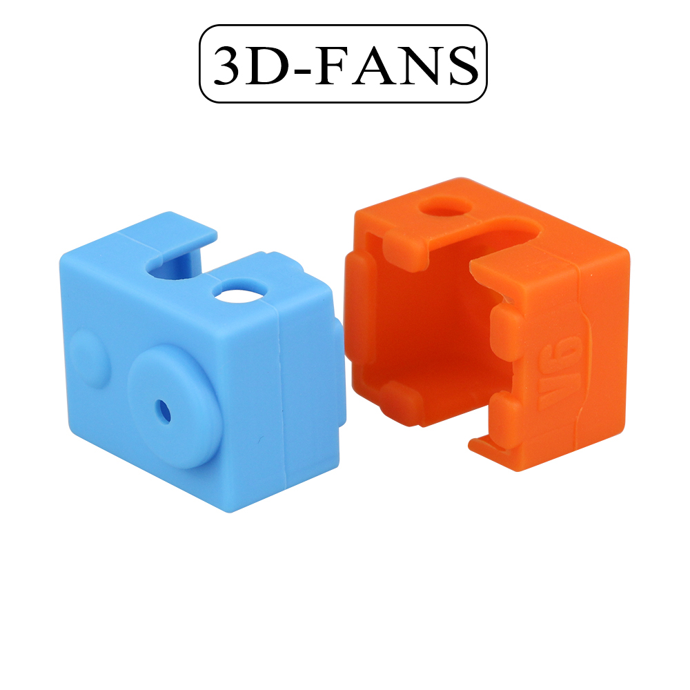 1Pc E3D V6 Protective Silicone Sock Cover Case For Heater Block Of Bowden& Direct Extruder RepRap 3D Printer