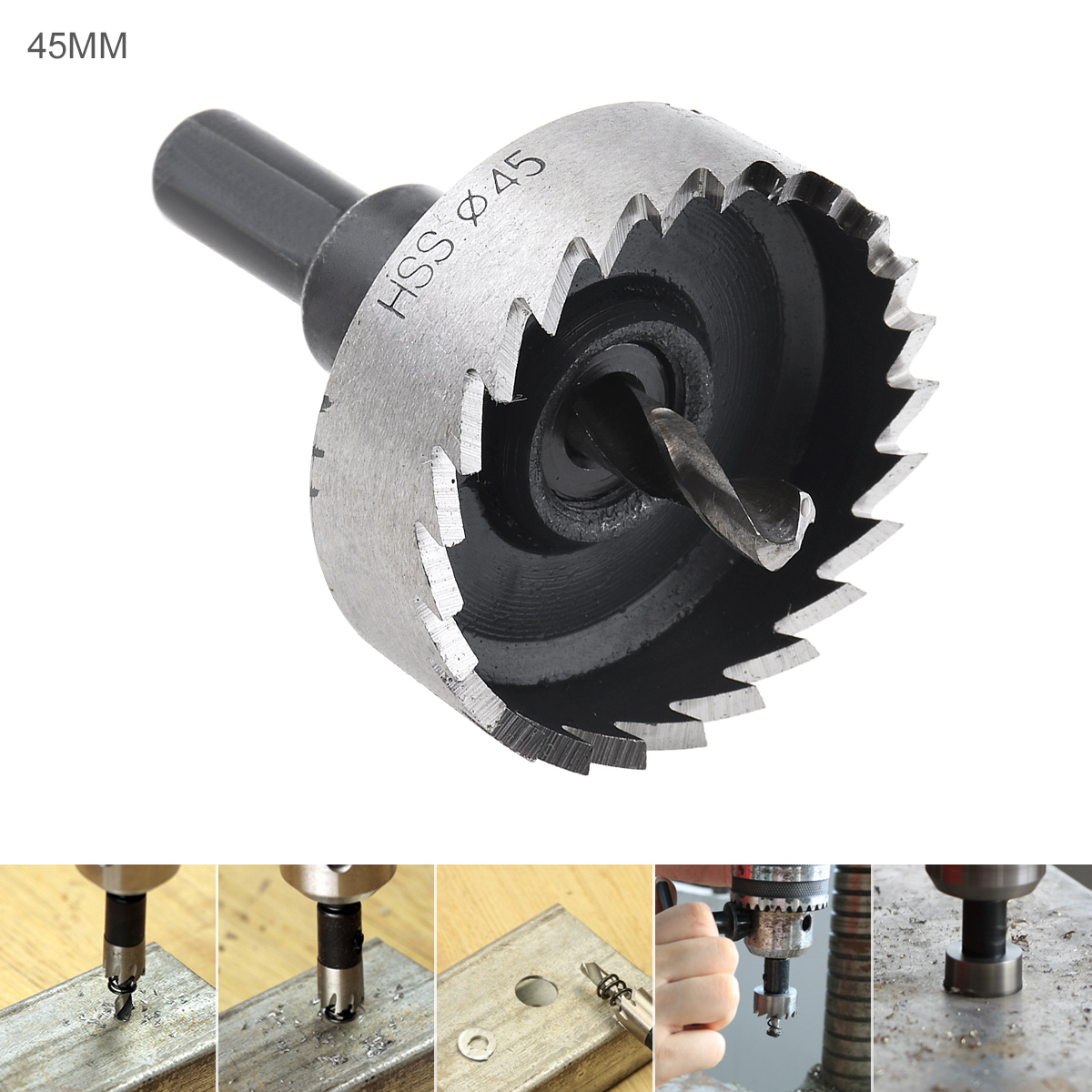 45mm HSS Hole Saw Cutter Drill Bits For Pistol Drills /Bench Drills / Magnetic Drills / Air Gun Drills