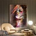 Красочные женские портрет граффити Плакаты принт абстрактные скандинавском Девичья парусиновая настенные картины искусство панно для дом...