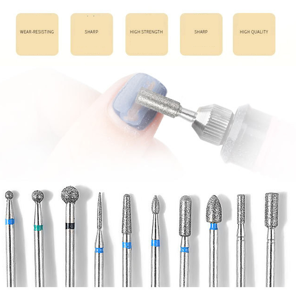 Image 4 - Nail Drill Bit Set Nail Files Electric Machine for Manicure Rotate Burr Polishing Tools Cutters Manicure Accessory Nail Art Bits-in Sets & Kits from Beauty & Health