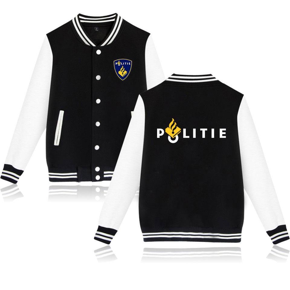 New Dutch Netherlands Police Politie Special Swat Unit Force Baseball Jackets Bomber Jacket Men Women Sweatshirt Casual Hoodies