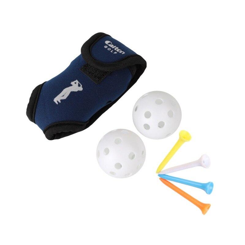 2019 Golf Small Pocket + Four Balls+2 Balls Tee Small Golf Waist Bag Ball Pocket Golf Tee Pouch Holder Neoprene Golf Ball Bag