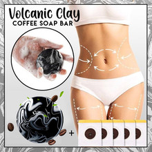 Skin Soap-Bar Clay Coffee Body-Clear Slimming with 5PC Navel-Stick Safe Toning Volcanic
