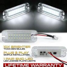 Luzes da placa de licença do diodo emissor de luz para a lâmpada da placa do número de mercedes benz w463 12v g-class g550 g500 g55 g63 g65 amg 1990-2012