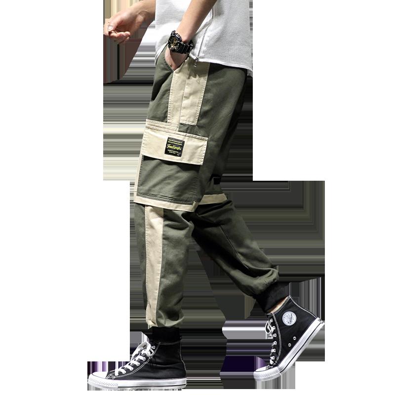 2020 New Hip Hop Joggers Cargo Pants Men Harem Pants Multi-Pocket Ribbons Man Sweatpants Streetwear Casual Mens Pant